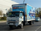 Hino brought a 195h biodiesel-fueled truck. Photo by Lauren Fletcher.