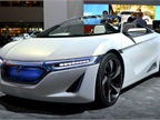 Honda also showed their EV-ster electric sports car concept at the