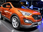 Hyundai also showed its five-passenger Santa Fe Sport, which has been