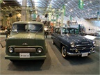 Two examples of postwar Toyota vehicles, the Toyopet Toyoace SKB