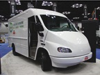 Showcased vehicle from Electric Vehicles International with a custom