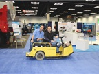 Getting around the show floor can be tiresome - unless you re lucky