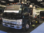 Mitsubishi Fuso featured its 2014 Canter series, including the Canter