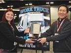 Isuzu won Work Truck magazine s Medium-Duty Truck of the Year. At left