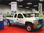 Impco displays a Chevrolet Silverado upfitted to operate on CNG.