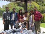 Ed with his family at his house celebrating Easter 2014.