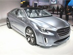 The coupe-like Subaru Legacy Concept has custom Ocean Silver metallic