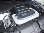 Audi A7 h-tron uses a fuel cell to charge its lithium-ion battery and