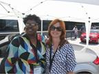 Florence McCrary of Genentech (left) and Debbie Struna of Volkswagen