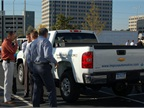IMPCO brought a natural-gas-fueled Chevrolet Silverado. Photo by Greg