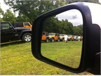 Jeep Wranglers lined up for the off-road course.