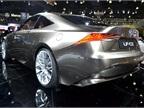 The Lexus LF-LC coupe features the Advanced Lexus Hybrid Drive.