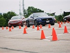 One of the driving events was a high-performance street drive with a