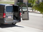 Rear 50/50-split doors give way to the rear cargo area.