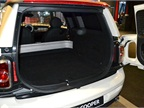 The cargo area of the Mini Clubvan features 12-volt sockets and
