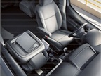 The front passenger seat can fold down to make more space for cargo or