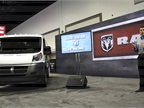 Ram Commercial showcased its new Promaster commercial van. Pictured is