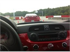 Ready to hit the track in the Fiat 500 Abarth.