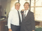 Ed and Ty Bobit during an open house at the office in Redondo Beach,