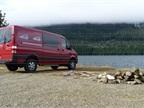 The Sprinter crew van accommodates five passengers (or five happy