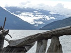 We followed the Columbia River north toward the Monashee Mountains,