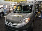 Ranger Design showed a matte gray ProMaster City concept with a roof rack for two 28-foot ladders.