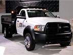 Chrysler had a display for its new Ram Commercial Truck division. The
