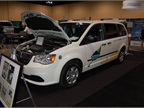 Chrysler brought a CNG-fueled version of its Ram Cargo Van to the