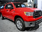 Toyota showed its Tundra full-size pickup truck at the show.