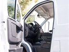 The front-wheel drive van offers a lower step-in height than a