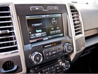 An 8-inch center console touch screen serves infotainment data and