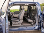 The SuperCab truck offers seating for six occupants.