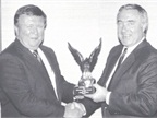 Presenting Fleet Manager of the Year Aware to George Weimer in 1988.